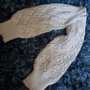 Mudd   Knit Leg Warmers   Cozy Cream